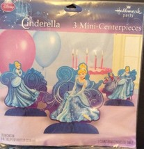 Disney Cinderella Princess Mini Centerpiece Hallmark Set Of 3 Party Deco... - $6.08