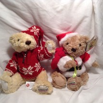 NEW Herrington Teddy Bears set of 2 Winter-themed Bears