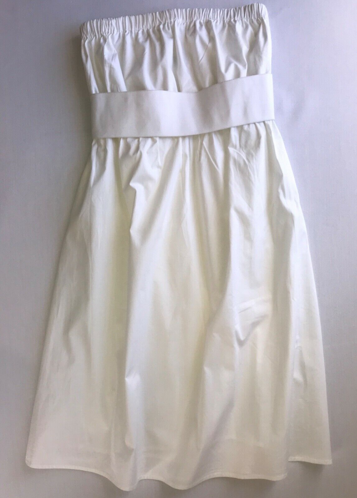 Primary image for Strapless White Belted Shift Dress in size Small by Daisy Fuentes