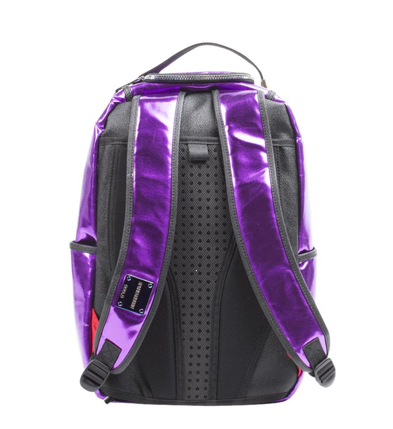 Sprayground Purple Fine Gold Brick Money Urban School Book Bag Backpack 910B1748 image 4