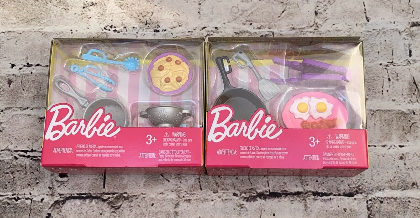 Primary image for Set Of 2 Barbie Kitchen Accessories - Breakfast & Pasta