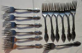 ONEIDA OCO WORDSWORTH stainless flatware 13pc salad dessert forks - $64.95