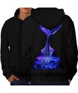 Blue Whale Diving Sweatshirt Hoody Sea Wildlife Men Hoodie Back - $20.99+