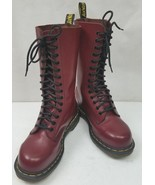 Doc Dr Martens Womens Boots 1940 Oxblood Red 14 Eye Steel Toe Calf High ... - $137.55
