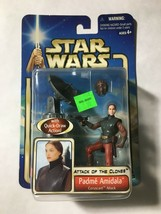 Star Wars 2002 AOTC Padme Amidala Coruscant Attack With Quick-Draw Action - $5.95