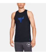 Under Armour Mens UA x Project Rock Baseline Tank Fitted 1330915-001 Bla... - £19.09 GBP