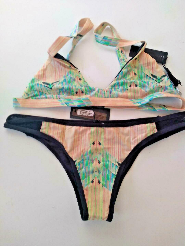 Tavik Ziggy Jayden Acid With Mesh Detail Bikini Set Size Large