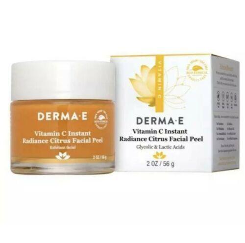 Derma E  Vitamin C Instant Radiance Citrus Facial Peel Full Size 2oz ~ Exp:1/22 - $19.99