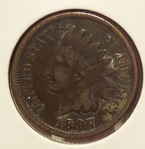 1897 Indian Head Penny F12 #0883 - $4.29