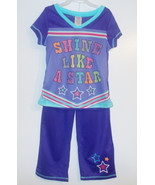 Walmart Girls 2 Piece Pajama Set Shine Like A S... - $7.69