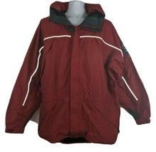 Timberland Tuckshell Performance Waterproof Jacket Mens Size L Red With ... - $76.22