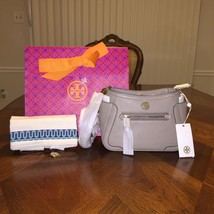 NWT Tory Burch Frances Mini Crossbody in French Gray with Tory Gift Bag - £230.11 GBP