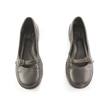 Born Black Leather Mary Janes Flats Comfort Shoes Buckle Womens 8 - $29.52
