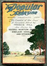 Popular Pulp Magazine August 20 1920- Empire of the Sage VG+ - $63.05