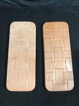 Lot of 2 Longaberger Bread Basket Bricks Warmers Heritage Stoneware - $28.17