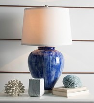 Athena Dark Blue Table Lamp with Shade China Ceramic - $209.65