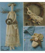 "Stuffed Summer 22"" Gardening Angel Doll Wreath Pin Kindred Spirits Sew P... - $11.99"