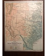 """Vintage Color TEXAS / SOUTH CENTRAL STATES  Print Plate 6.5"""" x 8.5"""" Unfr... - $14.00"""
