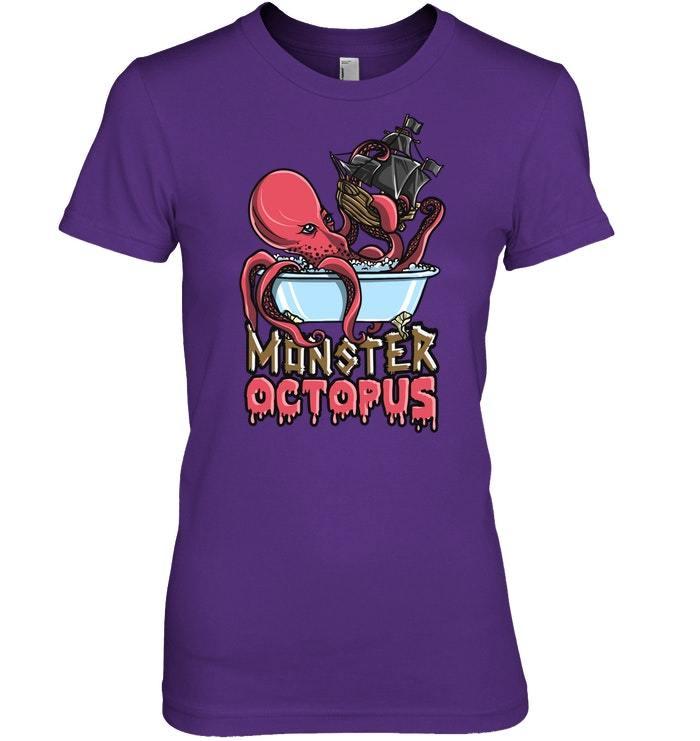 Funny Monster Octopus Halloween Tshirt Men Women Gift