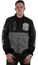 Raison Ny Vêtements Noir et Argent Monde Classe Ras Ripstop Veste Université Nwt