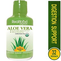 Country Life Aloe Vera - Realfood Organics - 32 Fl Ounce Liquid - May Help Suppo
