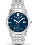 Citizen Corso Eco-Drive Blue Dial Stainless Steel Mens Watch BM7330-59L - $157.80