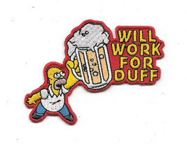 The Simpsons Homer Simpson Figure Will Work For Duff Beer Embroidered Pa... - $7.84