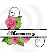Flower Split Monogram Mommy 202smp-Digital Clipart-Art Clip-Gift Cards-P... - $1.99