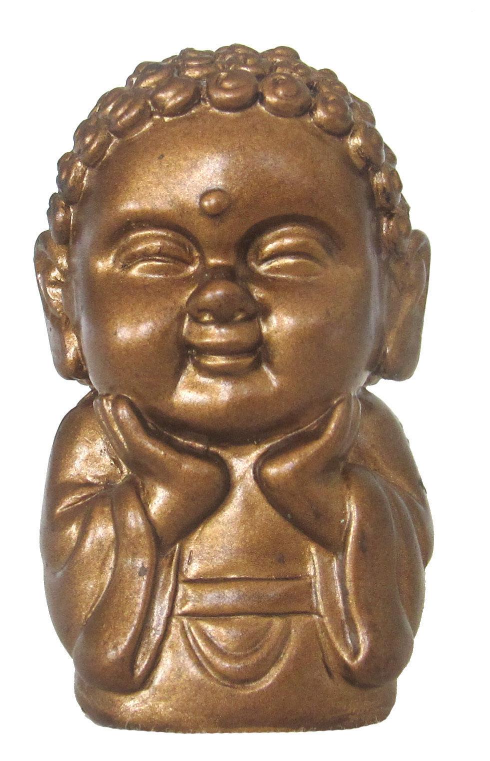 Pocket Buddha Figurine Toy Faith Peace Happiness Wisdom Love Harmony, set of 25