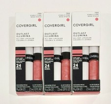 3 COVERGIRL Outlast Illumia All-Day Moisturizing Lip Color, 700 Starlit Pink  - $14.85
