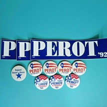 Ross Perot '92 Presidential Campaign Political Bumper Sticker Pin Button... - $29.95