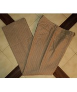 LAUREN RALPH LAUREN Beige/Cream Pinstripe ADELLE Wool/Cashmere Dress Pan... - $48.90