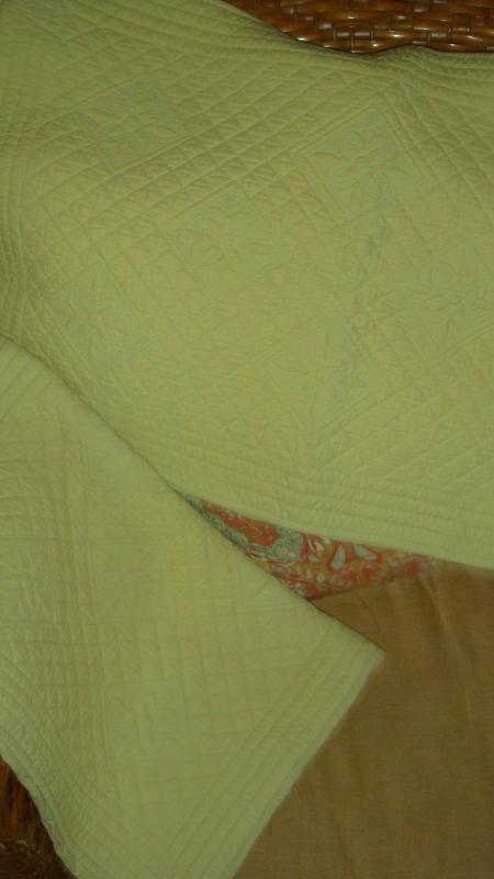 Restoration Hardware 2 Standard Quilted Boutis Pale Sage Green Pillow Shams - $34.97