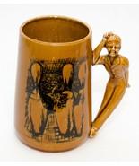 Vintage Bowling Mug Man Playing Bowling Handle Ceramic Coffee Cup Japan ... - $21.78
