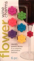 Lot of 2 Wine Charms Flower Stems Decorative Novelty Clips 12 pc Cuisine... - $8.99