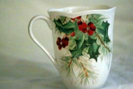 Lenox Butterfly Meadow Holioday Amaryllis And Monarch Butterfly Mug 12 oz. NWT image 3