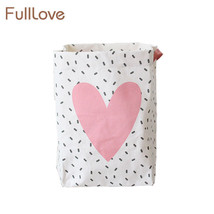 FULLLOVE® 45*26*54cm Fashion Dirty Laundry Bag Canvas Hanging Foldable - $11.58