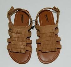 Arizona Jean Company 199638 Childrens Light Tan Fringe Sandals Size 13 Medium image 1