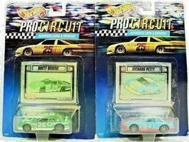 HOT WHEELS Vintage 1992 Mattel Pro Circuit RICHARD Petty & BRETT Bodine ... - $20.11