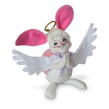 Annalee Dolls 5in 2018 Angel Bunny Plush New with Tags - $13.07