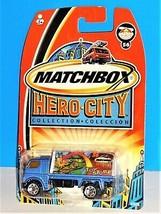 Matchbox 2003 Hero City Kids Shoppes #56 Billboard Truck Blue Toy Store - $5.00