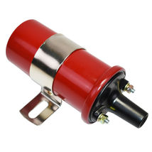 Oil-Filled Canister Style Female Remote Ignition Round Coil w/ Mounting Bracket image 3