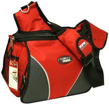 Large Messenger Sling Body Bag Backpack Binder Bag RED School Pack Shoul... - $32.73 CAD