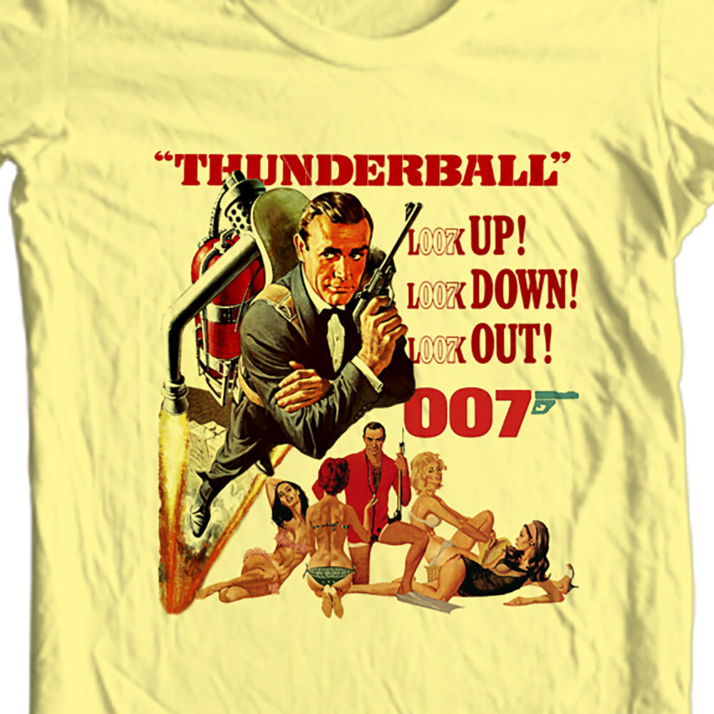 James Bond T-shirt 007 Thunderball Sean Connery vintage movie 1970s cotton tee