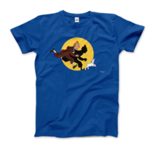 Tintin and Snowy (Milou) Getting Hit By A Spotlight T-Shirt - $19.75+