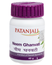 Patanjali Neem Ghan Vati Tablets 80tab Useful in Pimples, Acne, Skin Dis... - $7.50