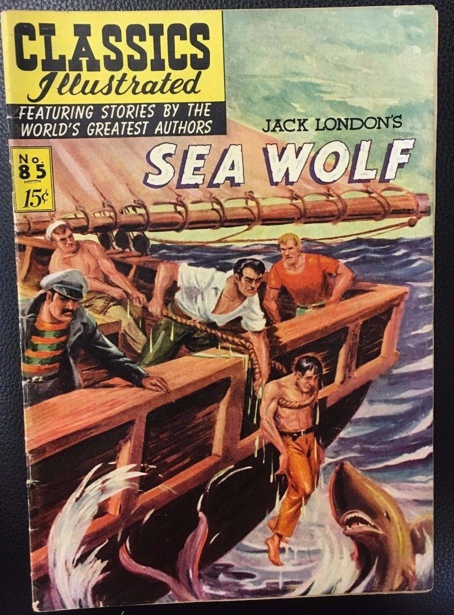 CLASSICS ILLUSTRATED #85 The Sea Wolf by Jack London (HRN 85) 1951 VG+ 1st