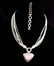 Silver 8 strand necklace and bracelet - silver set - statement choker - ... - $95.00