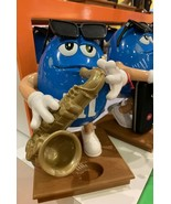 M&M's Blues Cafe Saxophone Player SAX  Candy Dispenser Great Gift  New D... - $148.50