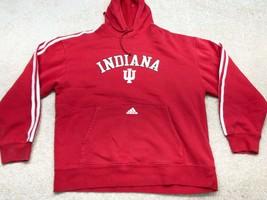 Adidas Indiana Hoosiers NCAA Men's Long Sleeve Sweatshirt Men's Size Large Red - $14.30